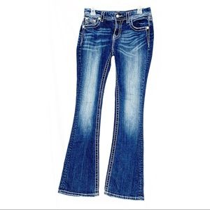Miss me jeans embellished pockets size 28